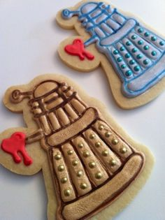 Valentine's Day Dalek Cookies