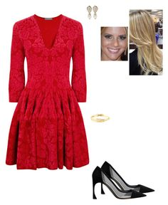 """""""Untitled #8782"""" by gracebeckett on Polyvore featuring Alexander McQueen, Valentino and Wouters & Hendrix"""