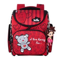 DELUNE Foldable Children School Bags Girls Boys Waterproof Randoseru Grade 1 - 4 Schoolbags Orthopedic Backpack Kids Bag