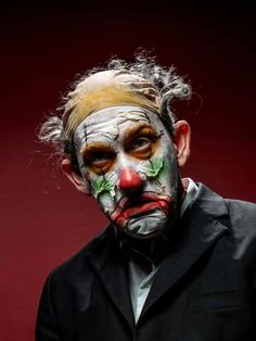 Face off: extreme clown portraits – in pictures | Art and design | The Guardian Clown Images, Arte Peculiar, Clowning Around, Bizarre, Emotion, Makeup Photography, Face Off, Commercial Photography, Horror Art