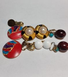 Lot of 5 Clip Earrings for Repurpose by TheSparklingGallery on Etsy