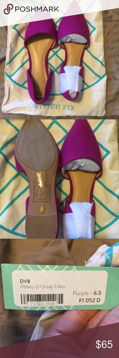 LAST CHANCE Purple flats Brand new. Never worn. $65 DV8 Abbey D'orsay Flats DV by Dolce Vita Shoes Flats & Loafers