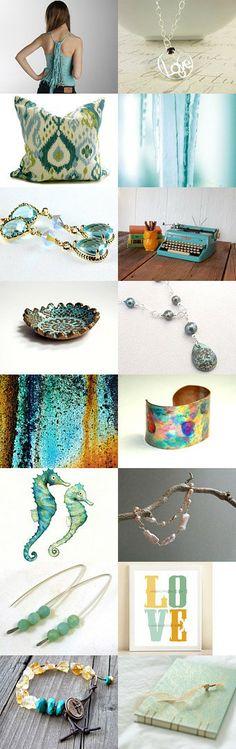 For the LOVE of Aqua by Pam Robinson on Etsy--Pinned with TreasuryPin.com #jewelryonetsy