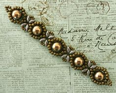 Linda's version of Beginner Sunflower bracelet  ~ Seed Bead Tutorials