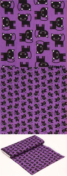 Tissu en COTON JERSEY Panel 65 cm Balais bandes fleurs rose pink Multicolores Enfants Tissu