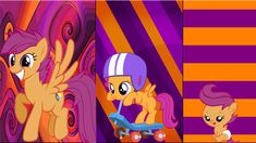 3 Scootaloo's by *Macgrubor on deviantART
