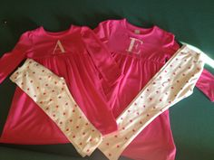 Sweet Valentine toddler outfits with single monogram