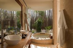 Riviera Maya Resorts | Rosewood Mayakoba - beachfront studio suite bath