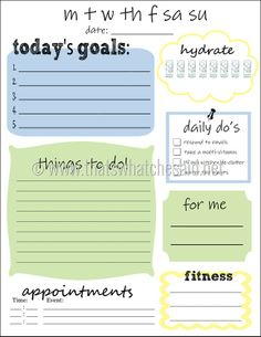 Free Printable Daily To-Do List!  Get #organized for the new year!