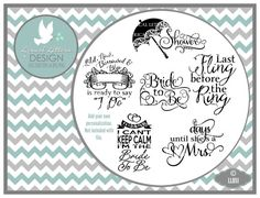 Bride Bridal Collection LL051  Vector  Cutting by lyricalletters