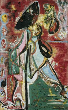 The Moon Woman, 1942 by Jackson Pollock - Peggy Guggenheim Collection, Venice, Italy