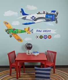 Airplanes Peel & Place Wall Stickers