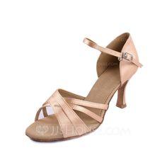 Women's Latin Heels Satin Dance Shoes