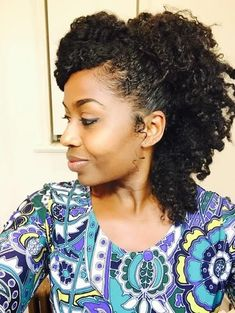 Yasmin from St. Croix // 3B/4C Natural Hair Style Icon | Black Girl with Long Hair: