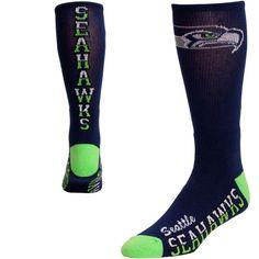 Seattle Seahawks Flip Side Socks - Neon Green/College Navy is available now at FansEdge. Seahawks Gear, Seahawks Fans, Seahawks Football, Football Team, Seahawks Apparel, Football Season, Seattle Sounders, Nfl Seattle, Seattle Mariners