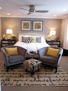 DIY Headboard Ideas: Upholstered   Grey and beige