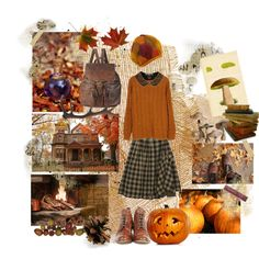 """Autumn breeze"" by whitekirin on Polyvore --Love the colors."