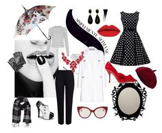 """""""Spicy black&white"""" by esterschwartz on Polyvore featuring M&S Collection, Valentino, Karl Lagerfeld, Humble Chic, Miu Miu, women's clothing, women, female, woman and misses"""