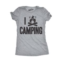 1b9141bfa Outdoors T-shirts, Womens I Campfire Camping Funny I Love Camping  Summertime Vacation Hiking
