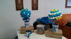 La presentacion final,lista para agregar a la enorme mesa dulce que realizaron en su cole!!!