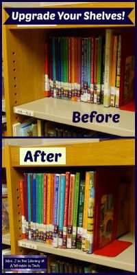 """""""What Worked"""" Wednesday: Keeping Books Visible on Library Shelves - Home Professional Decoration Library Themes, Library Signs, Library Book Displays, Library Boards, Library Activities, Library Programs, Library Ideas, Elementary Library Decorations, Children's Library"""