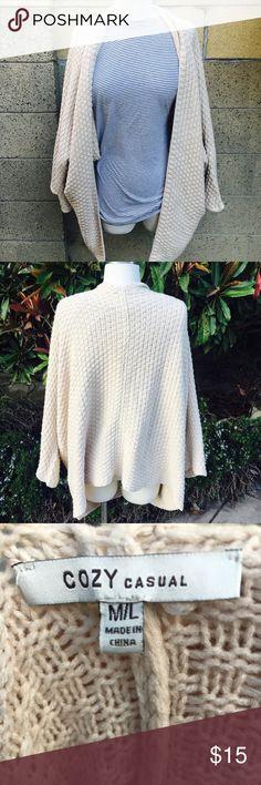 Oversized cream cardigan Warm oversized knit cream cardigan. Sweaters Shrugs & Ponchos