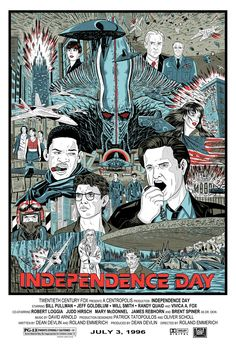 Too poor to afford a Mondo poster, so I made my own- Independence Day!