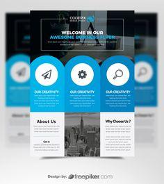Flyer Template Design Graphic Design Flyer, Brochure Design, Flyer Design, Creative Flyers, Creative Design, Flyer Printing, Marketing Flyers, Event Flyers, Business Flyer Templates