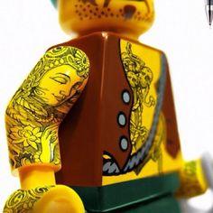 Tattoo on mini Lego feature
