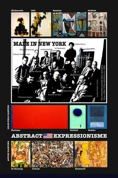 After WW2 things shifted. New York became the center of art. From: Perspectives on art by Henk van Os, via Behance