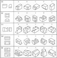 various view of isometric drawings Isometric Drawing Exercises, Isometric Art, Isometric Design, Geometric Shapes Art, Geometric Drawing, Drawing Skills, Drawing Reference, Orthographic Drawing, Orthographic Projection