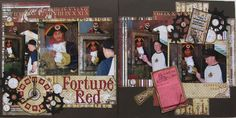 #papercraft #scrapbook #layout #Disney theme by Plays Well With Paper: Fortune Red