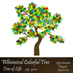 Whimsical Colorful Tree Digital Clip Art Tree by 1959Creations, $2.99 Main Theme, Colorful Trees, Tree Art, Whimsical, Doodles, Clip Art, Digital, Unique Jewelry, Handmade Gifts