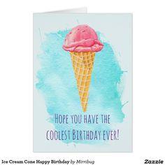 Ice Cream Cone Happy Birthday