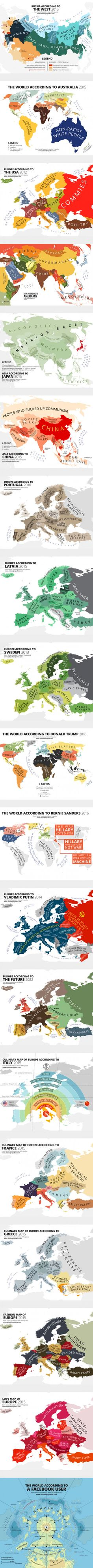 19 very politically incorrect world map of stereotypes