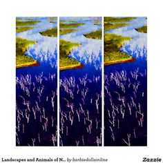 Landscapes and Animals of New Caledonia Triptych