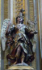San Gabriel Arcángel, Altar de Sn. Miguel, Catedral de Puebla, Pue. by Tach Jrez. Hra., via Flickr