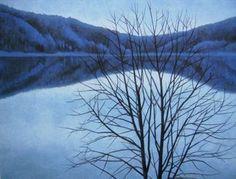 東山魁夷 白夜 1963年 Contemporary Landscape, Landscape Art, Landscape Paintings, Landscapes, Japanese Painting, Japan Art, Japanese Artists, Nature Scenes, Art Pictures