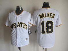 MLB Pittsburgh Pirates #18 Walker white jersey