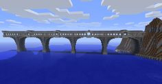 bridges+in+minecraft | built it but I didnt take the picture, that was GeneralKiller.