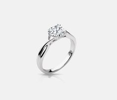 Lux Bond & Green | Naledi 18k White Gold Madison Style Engagement Ring…