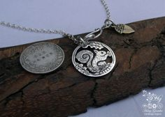 I love nature and woodland creatures... and heart this beautiful recycled silver sixpence coin...