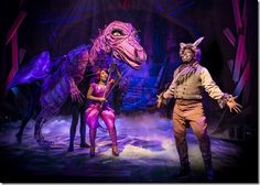 "Alexis J. Rogers as the Dragon makes an unexpected love connection with James Earl Jones II as Donkey in her castle lair in the song ""Forever"" in Chicago Shakespeare Theater's production of ""Shrek The Musical"", staged and choreographed by Rachel Rockwell. (photo credit: Liz Lauren)"