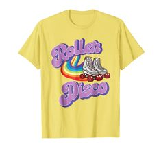 a876bd2e Amazon.com: Cool Vintage Roller Disco Retro 70s and 80s party T-shirt:  Clothing
