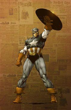Captain America Colors by JoshMaule.deviantart.com on @deviantART