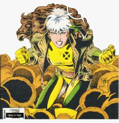 Rogue - she involuntarily absorbs and sometimes also removes the memories, physical strength, and superpowers of anyone she touches