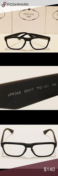 bb64eafebfe7 Prada Eyeglasses VPR04S Matte Brown Men s 55mm New Brand New! 100%  Authentic! Prada