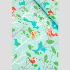 owls in trees on aqua - it's a hoot - momo for moda