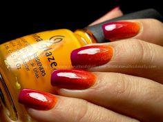 Esmaltes da Kelly: Gradient nails