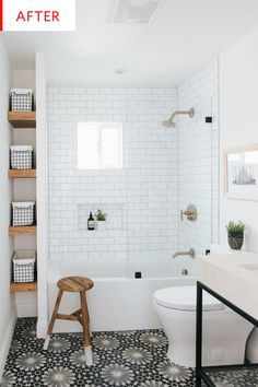 White Bathroom Ideas - Prior to you begin enhancing an all-white bathroom, there are a couple of things you require to understand. An experienced shares her essential white bathroom . Bathroom Elegant White Bathroom Ideas to Inspire Your Home Small Space Bathroom, Mold In Bathroom, Upstairs Bathrooms, Bathroom Renos, Bathroom Bin, Condo Bathroom, Tiny Bathrooms, Small Bathroom Designs, Small Master Bathroom Ideas